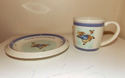 Peter Rabbit Beatrix Potter CUP AND PLATE