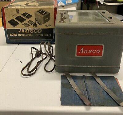 Vintage Ansco Home Developing Outfit No. 2 Film Print Kit