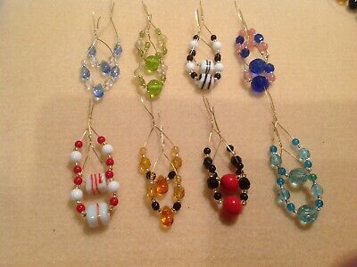 16 Glass Beaded Spangles For Lace Bobbins