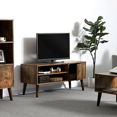 Mid Century Modern Tv Stand Furniture Living Room Wood Bedroom Retro Low Height
