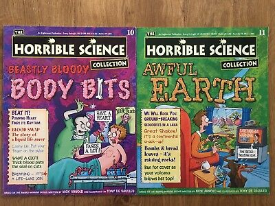 2 x HORRIBLE SCIENCE COLLECTION Magazine Issue 10 (Body Bits) & 11 (Awful Earth)