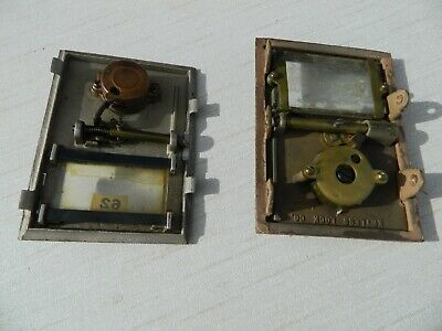 Vintage Set of 2 Antique Brass U. S.Post Office Mailbox Doors Keyless Lock