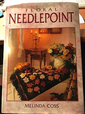 craft book by Melinda Cross - FLORAL NEEDLEPOINT - 20 designs to make