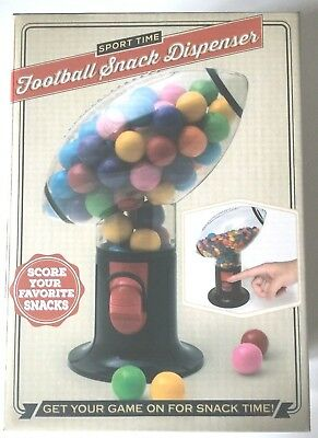 Sport Time Football Snack Dispenser-Snack Candy Nuts-New