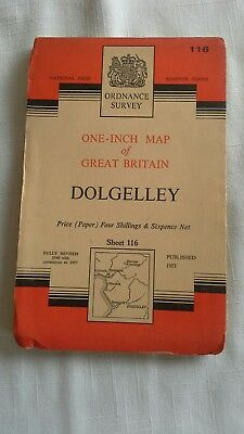 Ordnance Survey One Inch Map, on Paper , Dolgelley , Sheet 116,  1953