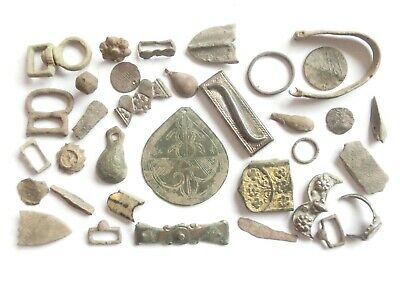 Lot of Misc. Ancient Bronze / Silver / Gilded Artifacts