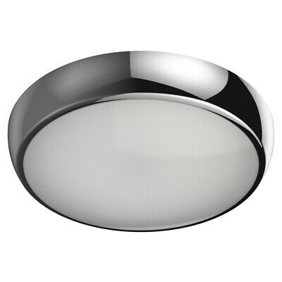 LED Emergency & Standard Round Ceiling Utility Corridor Bulkhead Light Chrome