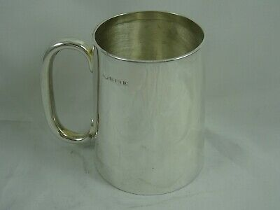 SOLID silver PINT TANKARD, 1927, 236gm