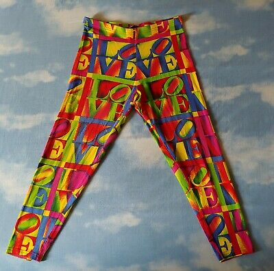 TROUSERS leggins vintage VERSACE Jeans Couture made  Italy TG 32-46 circa M/L