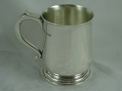 GARRARD & Co,  SOLID silver PINT TANKARD, 1958, 402gm