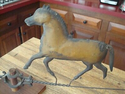 Antique Horse Weathervane or Topper C. 1900 N. E. Estate Great Surface