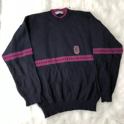 a74242486f4 Extremaly Rare Yves Saint Laurent Vintage Big YSL Logo Multicolor Sweater