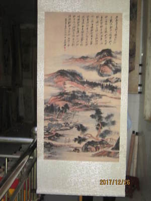 Excellent old Chinese Scroll Painting By Zhang Daqian :landscape X045