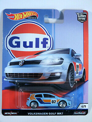 HOT WHEELS 2019 Car Culture GULF VW Volkswagen Golf Mk7 Real Riders