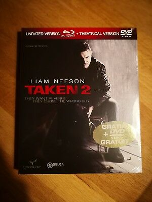 Combo Blu-ray + DVD  :  TAKEN 2  [ Liam Neeson ]  NEUF cellophané