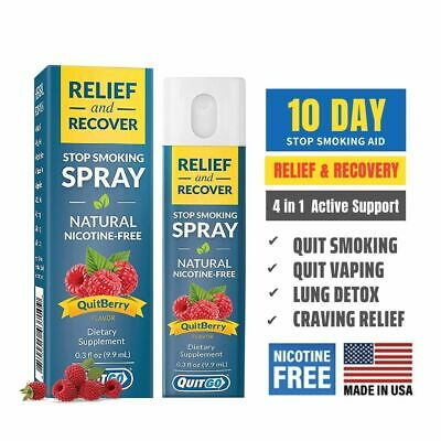QuitGo QuitBerry Flavored Nicotine-Free Relief and Recover Spray 0.3oz