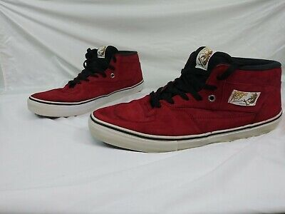 ff38f4a694 Vans Red Suede Half Cab Steve Caballero 20Th Anniversary Year Of Dragon Sz  13