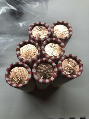 2017 p Lincoln shield cent roll. 7 Original Bank Rolls BU pennies