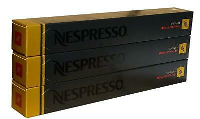 Nespresso Capsules Volluto Decaffeinato 30 3 Sleeves Decaf Variety Machine