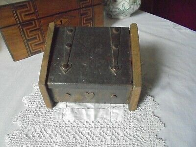 Vintage/antique Arts And Craft Small Ornate Metal & Wood Chest