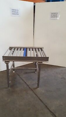 STAINLESS STEEL GRAVITY ROLLER  CONVEYOR 1mtr x 720mm approx