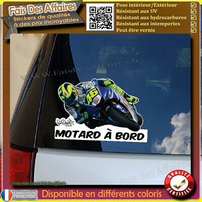 Stickers Autocollant motard à bord valentino rossi decal signature moto 46