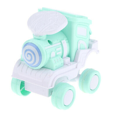 Friction Powered Press And Go Auto, 360 ° rollender Zug Kids Funny Toy