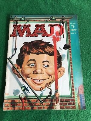 Vintage 1950's MAD Magazine Comic Book Oct 1959 Number 12 UK Edition