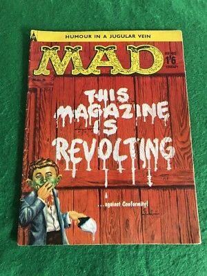 Vintage 1960's MAD Magazine Comic Book Arpil 1960 Number 5 UK Edition