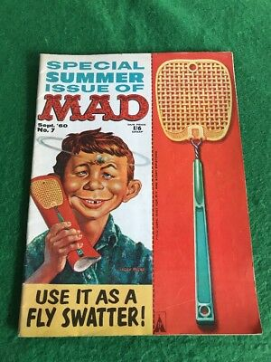Vintage 1960's MAD Magazine Comic Book Sept 1960 Number 7 Special Issue