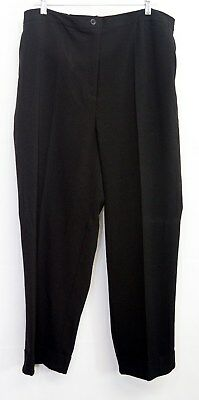 NWT MAGGIE BARNES Cuffed Trouser Womens 20WP Black Pant Career Petite Plus 1403X