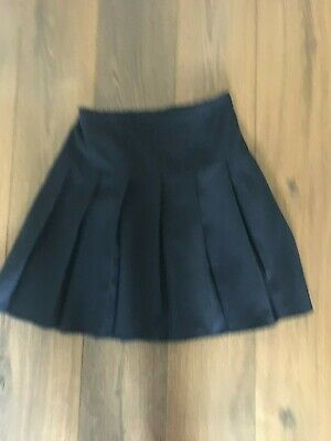 1de7b59a37 Set Of Two Girls Next Navy Blue Box Pleat School Skirts Age 12 Years Fab