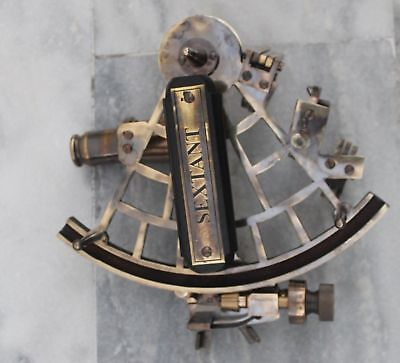 Heavy Brass Nautical Antique Working Sextant Marine Astrolabe Reproduction.