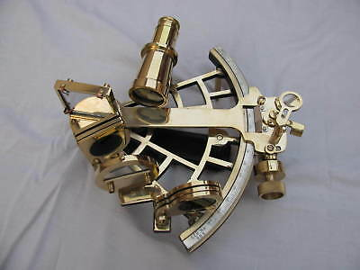 Maritime Solid Brass Sextant Vintage Collectible Working Astrolabe Ship Gift itm