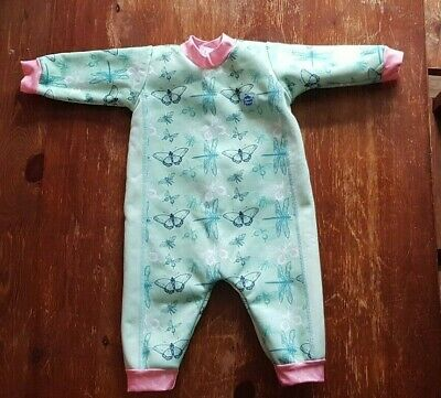 Splash About Baby Wetsuit, 3 to 6 months, in Dragonfly Print. Upf 50 protection.