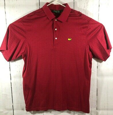 970aec112 Amen Corner Masters Collection Polo Shirt Augusta National Red Striped Mens  L