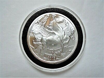 2016 Pegasus 1 Troy OZ Pure .999 Fine Silver Coin / Round in Capsule