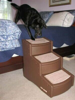 Easy Step II Extra Wide Pet Dog Stairs - Chocolate