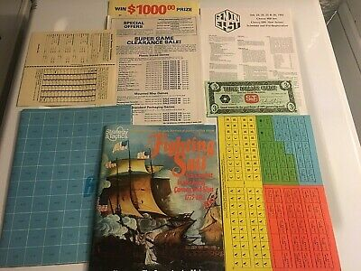 Spi Strategy Tactics Magazine Game #85 Fighting Sail Unpunched 1981