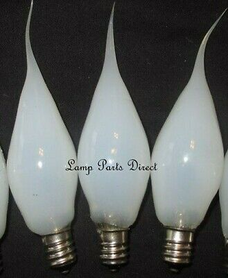 """(Lot of 5) 3w """"Clear"""" Flicker Candelabra Base Bulbs - Silicone Dipped"""