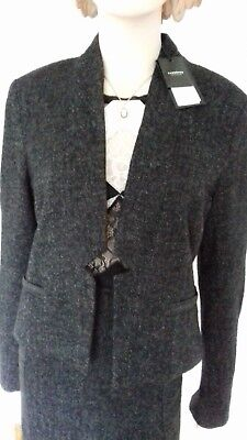 New TURNOVER WOMAN SKIRT SUIT NEW  34% wool Size-14