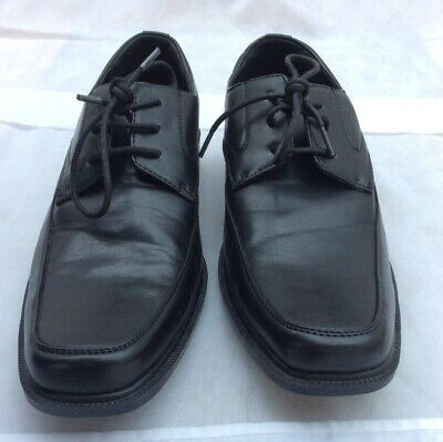 Beckett Black Leather Laceup Shoes Size  Uk 10 / 44