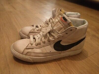 separation shoes 93fc9 bf7d6 Nike Blazer Retro High Top White Cream Leather UK 7.5 Vintage Colourway Rare
