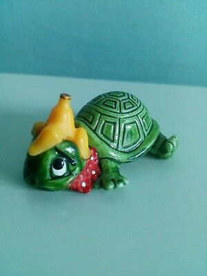 Vintage 1990s Kinder Egg Terrapins / Turtles Retro Collectible Rare - Banana