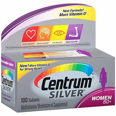 Centrum Silver Women 50+ Multivitamin/Multimineral Supplement Tablets, 100 ct