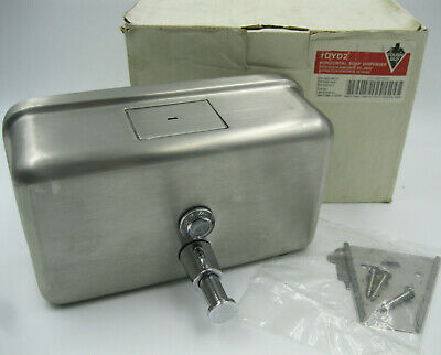New In Box Tough Guy Grainger 1DYD2 Horizontal Soap Dispenser Silver Stainless