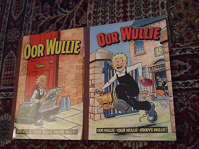 2x Our Wullie 1982 & 1984 annuals The Brooms.