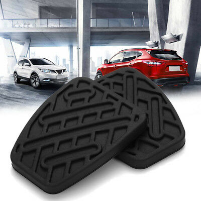 Pair of Brake + Clutch Pedal Pad Rubber Covers For Nissan Qashqai  Anti Slip~