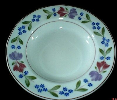 ADAMS Old Colonial Blue/Pink/Purple Floral Patt 7 ¾ inch Bowl x1 (2 available)