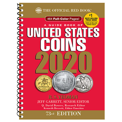 **NEW** The Official 2020 Red Book Guide to Coins - Spiral Bound  - 73rd Ed